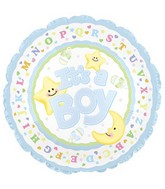 "9"" Airfill It&#39s A Boy Moon & Stars M21"