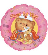 "9"" Airfill Get Well Nurse Bear M36"