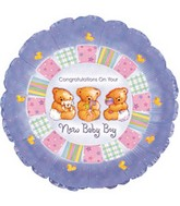 "9"" Airfill Baby Boy Patchwork M39"