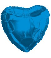 "4"" Airfill Only Royal Blue Heart"