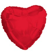 "18"" CTI Brand Red Opaque Heart"