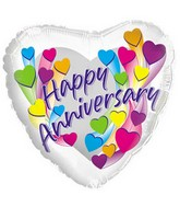 "17"" Happy Anniversary Multi Colors Packaged"