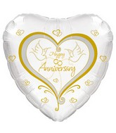"18"" Happy Anniversary Two Doves"