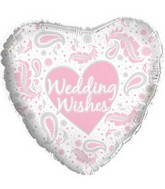 "17"" Wedding Wishes Paisley Pink Packaged"