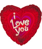 "9"" Airfill I Love You Fitted Hearts M73"