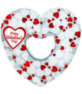 "14"" Airfill HVD Mosaic Heart Cut-out M223"