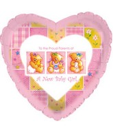 "9"" Airfill Baby Girl Patchwork M86"