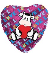 "9"" Airfill Pelox Love Cow Balloon"
