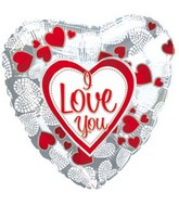 "4"" Airfill I Love You Mosaic Hearts M229"
