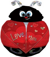 "27"" Love You Ladybug SuperShape Balloon Packaged"