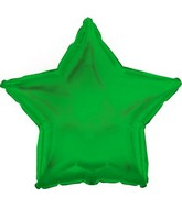 "9"" Airfill Only Green Star Balloon"