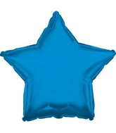 "4"" Airfill Only Blue Star Balloon"