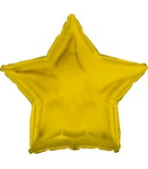 "9"" Airfill Only Yellow Gold Star Balloon"