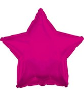 "4"" Airfill Only Magenta Star Balloon"