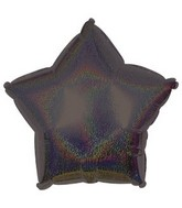 "18"" Black Star Dazzeloon Balloon"
