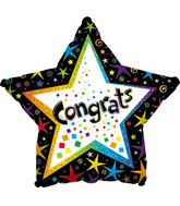 "17"" Congrats Star Squares/Confetti Packaged"