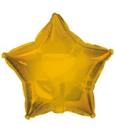 "4.5"" Airfill Anagram Gold Star Balloon"
