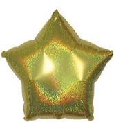 "9"" Airfill Gold Dazzleloon Star M143"