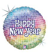 "18"" Happy New Years Disco Ball Balloon"