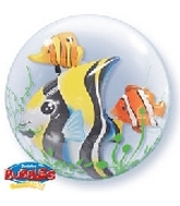 "24"" Double Bubble Fish Balloon"