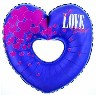 "32"" Cutout Heart I Love You Purple"