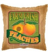 "18"" Farm Fresh Peaches Fruit Balloon"