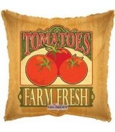 "18"" Farm Fresh Tomato Mylar Balloon"