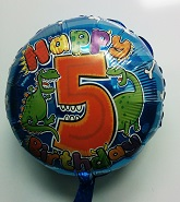 "18"" Age 5 Dinosaur Birthday Balloon"