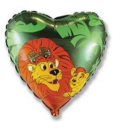 "18"" Lion King Green Balloon"