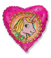"18"" Unicorn Head Pink Mylar Balloon"