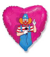 "18"" Mylar Balloon Party Clown"