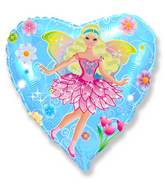 "18"" Fairy Blue Mylar Balloon"