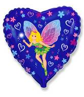 "18"" Lady Butterfly Mylar Balloon"