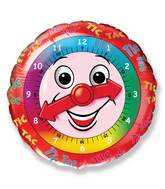 "18"" Clock Face Mylar Balloon"