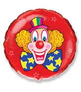 "18"" Clown Red Mylar Balloon"