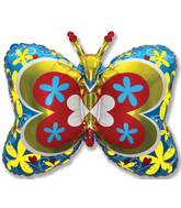 "35"" Blue Deco Butterfly"