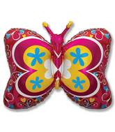 "35"" Red Deco Butterfly"