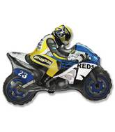 "36"" Moto Racing Bike Blue and Yellow"