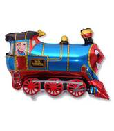 "30"" Foil Train Balloon Blue"