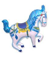 "35"" Horse Circus Balloon Blue"