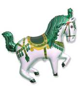 "35"" Horse Circus Balloon Green"