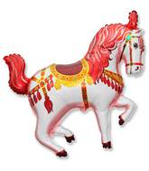 "35"" Horse Circus Balloon Red"