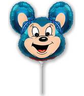 Mini Airfill Mighty Mouse Blue Balloon