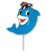 "14"" Airfill Only Delfy Dolphin with hat"
