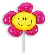Airfill Only Fuchsia Flower Balloon
