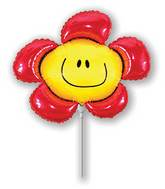 Airfill Only Red Flower Balloon