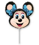 Airfill Only lolly Mouse Black Balloon