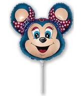 Airfill Only Babsy Mouse Blue Balloon