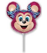 Airfill Only Babsy Mouse Fuchsia Balloon