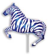 Airfill Only Blue Zebra Balloon